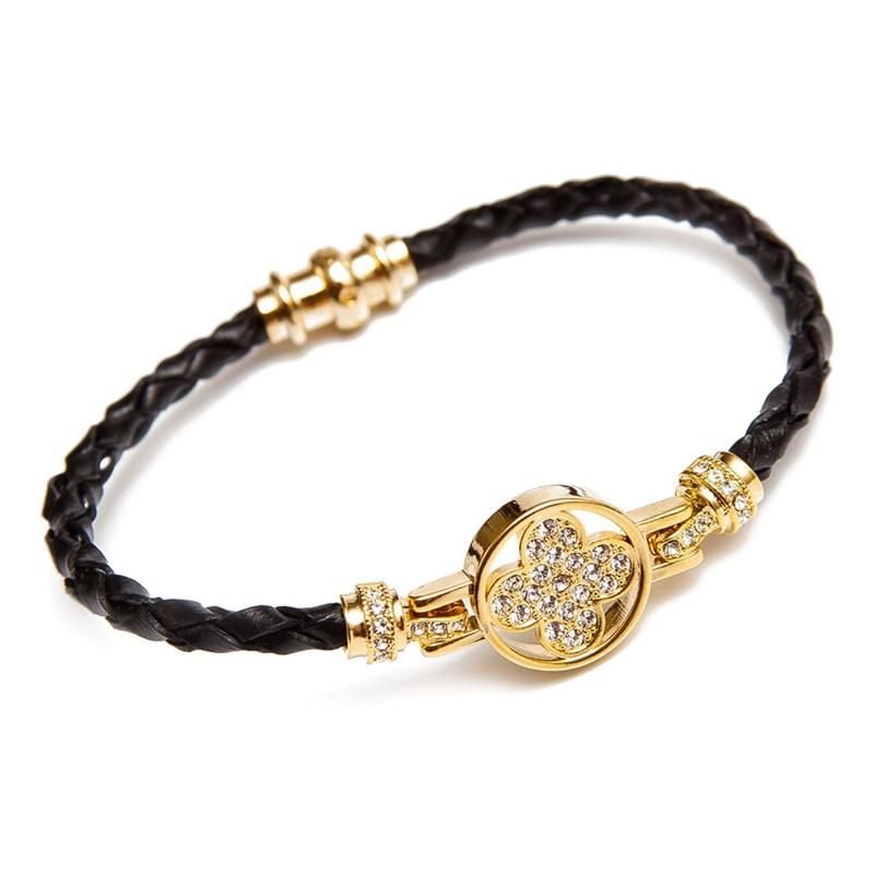 Кожаный браслет Asavi Jewel G черный