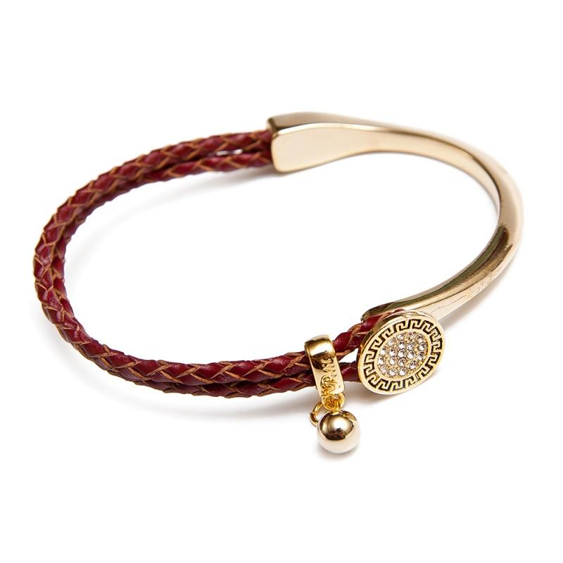 Кожаный браслет Asavi Jewel G светло-коричневый