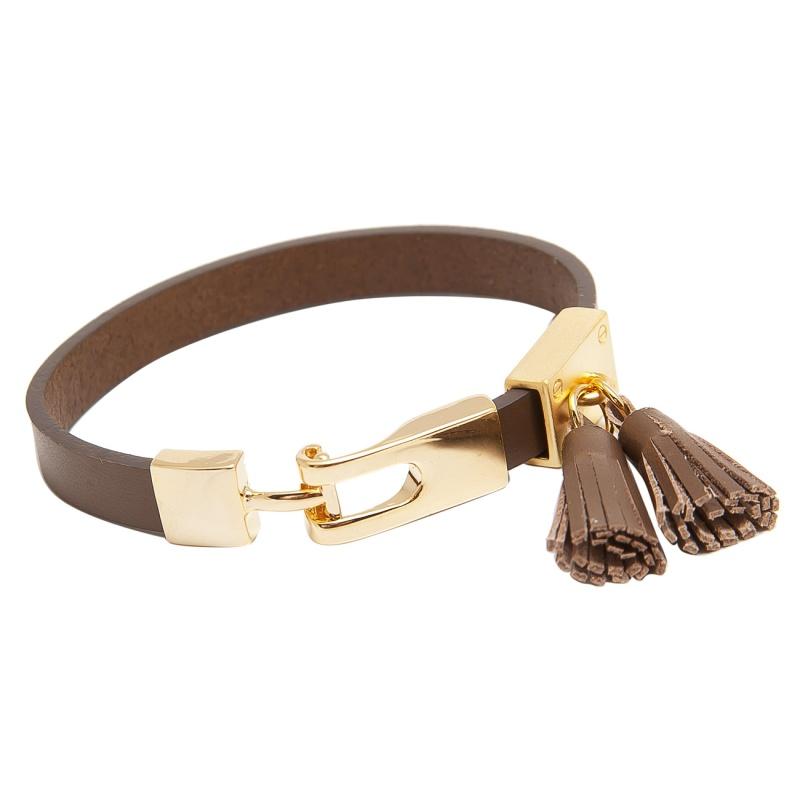 Кожаный браслет Asavi Jewel G коричневый