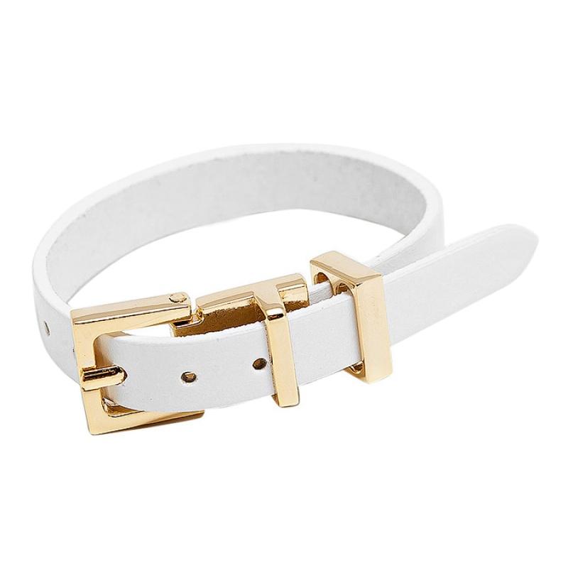 Кожаный браслет Asavi Jewel G белый