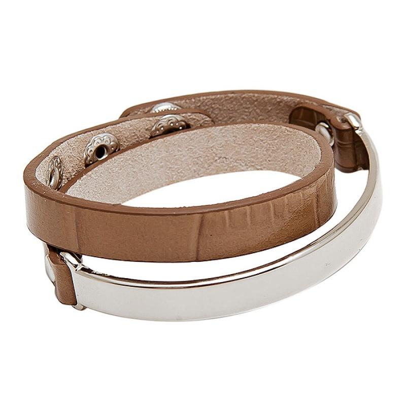 Кожаный браслет Asavi Jewel S коричневый