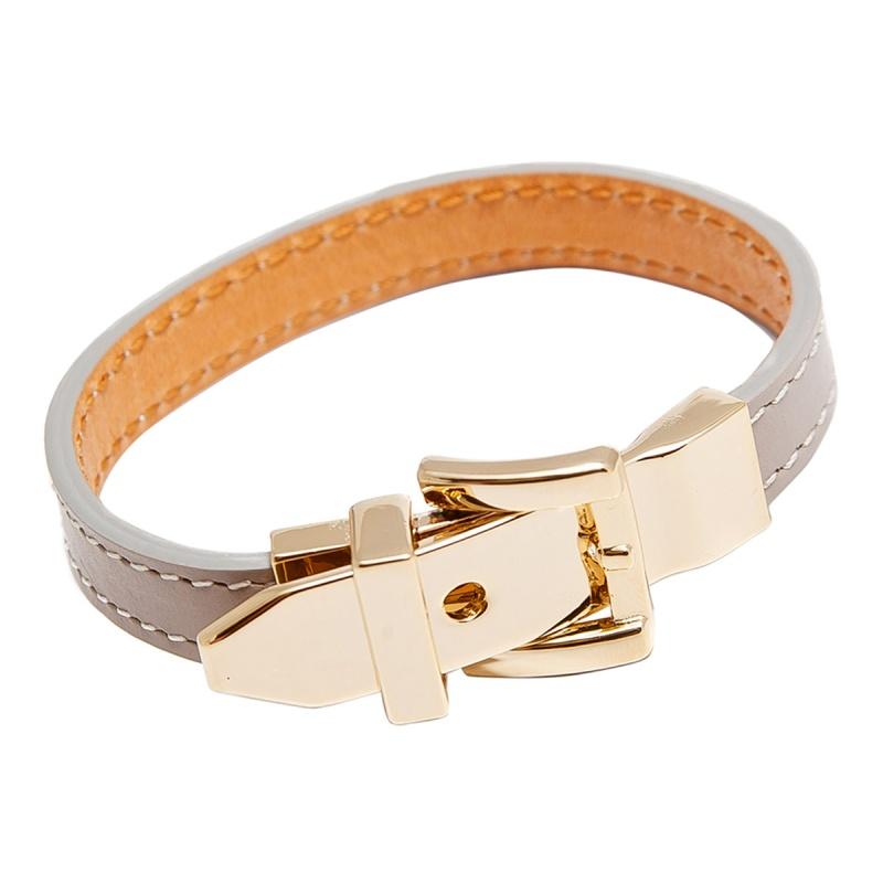 Кожаный браслет Asavi Jewel G серый