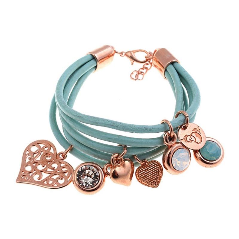Кожаный браслет By Dziubeka I love BIL2881 G