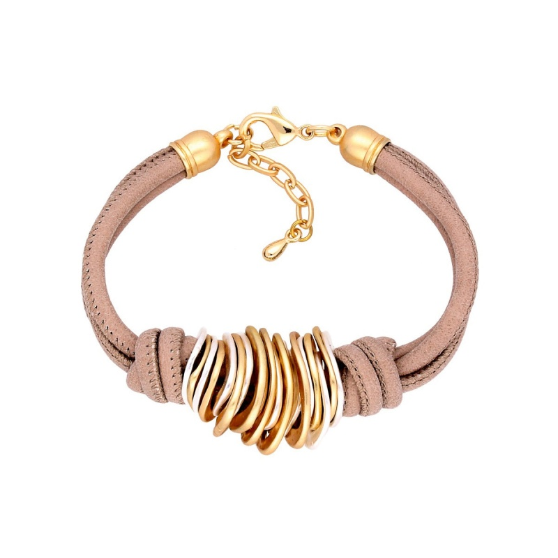 Кожаный браслет By Dziubeka Romantic Boho 0380
