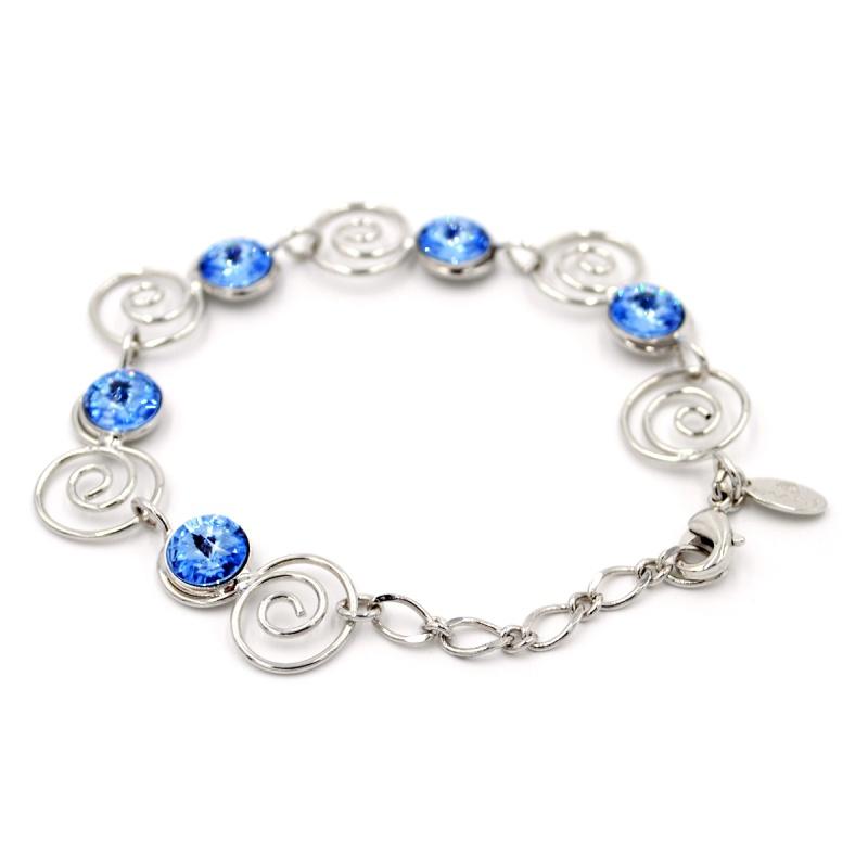 Браслет Malu Lucy S с голубыми кристаллами