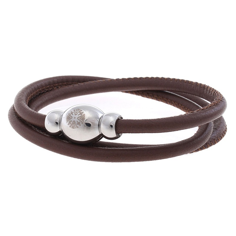 Кожаный браслет Qudo Tender S светло-коричневый