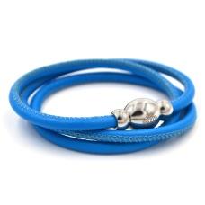 Кожаный браслет Qudo Tender S голубой