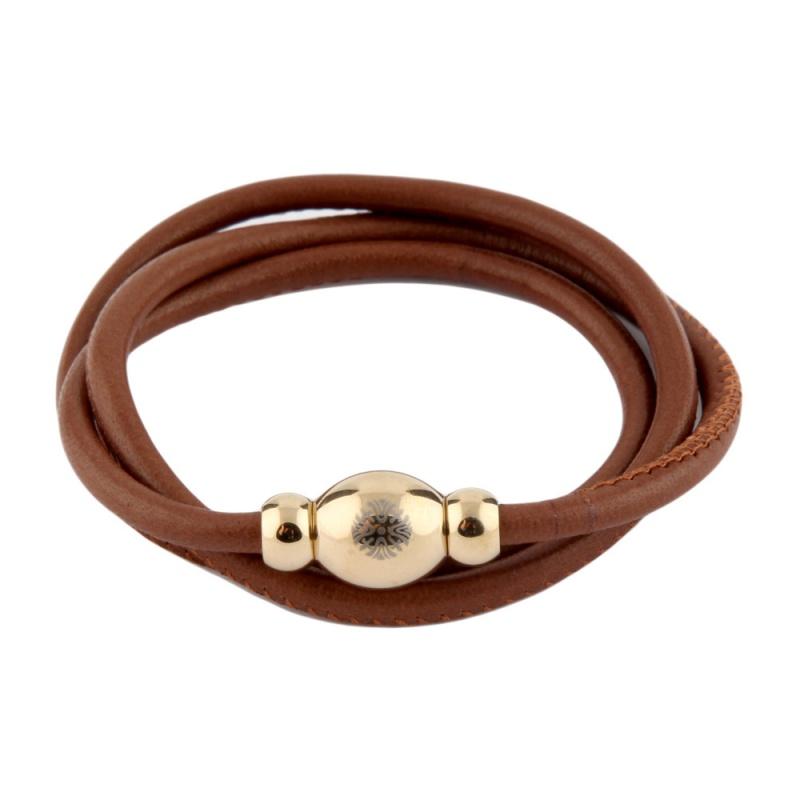Кожаный браслет Qudo Tender G светло-коричневый